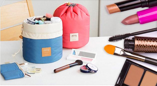 Kozmetická praktická taška s priehradkami v dvoch farbách. Bonus ku každej objednávke!