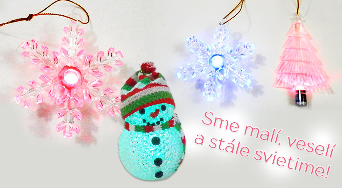 Vianočné svietiace ozdoby na skrášlenie vášho domova či stromčeka už od 6,39 € za 4 kusy.