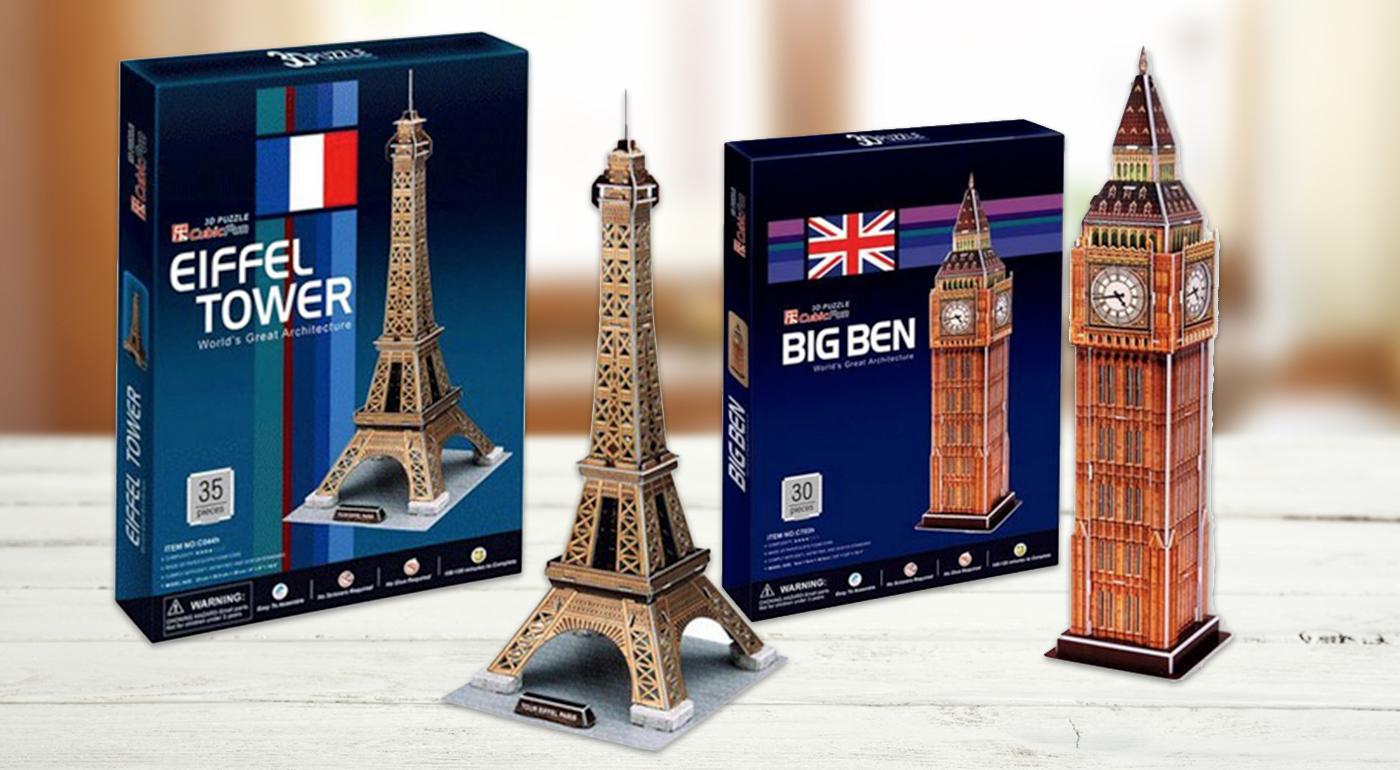 3D puzzle - Eiffelova veža za 4,49 €