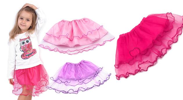 Roztomilá dievčenská tylová suknička