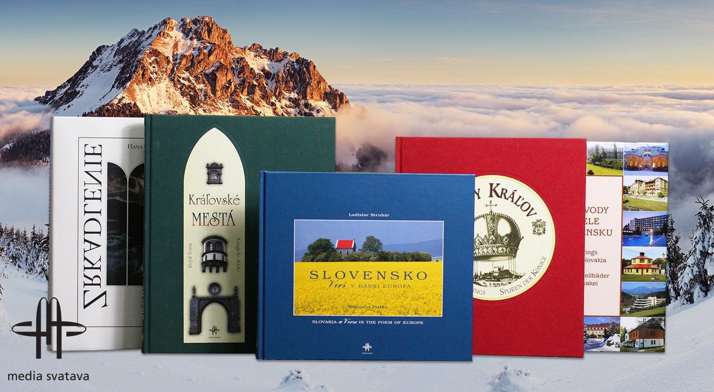 Kvalitné reprezentačné knihy o Slovensku - 5 titulov