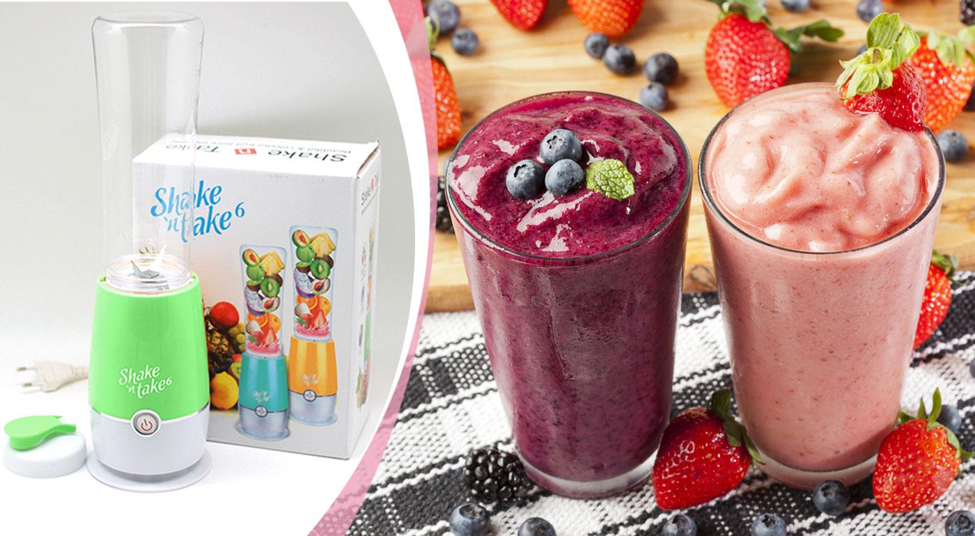 Skvelý mixér Shake 'n take 6 pre zdravé raňajky plné vitamínov len za 30 sekúnd