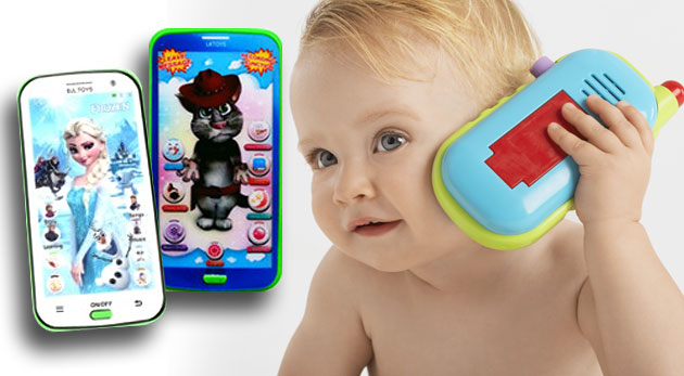 Detský mobilný telefón Talking Tom alebo Frozen na výučbu angličtiny