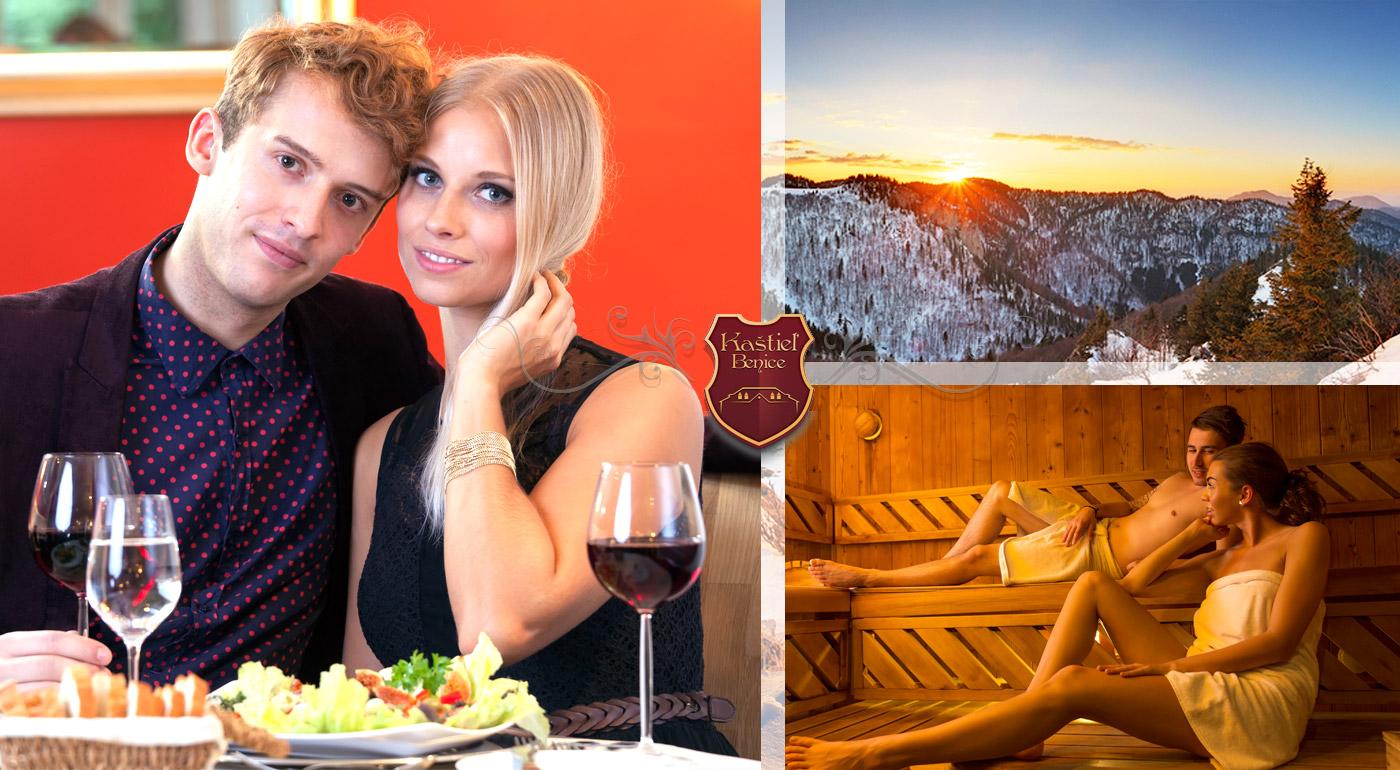 Zimná romantika v Kaštieli Benice neďaleko Malej a Veľkej Fatry