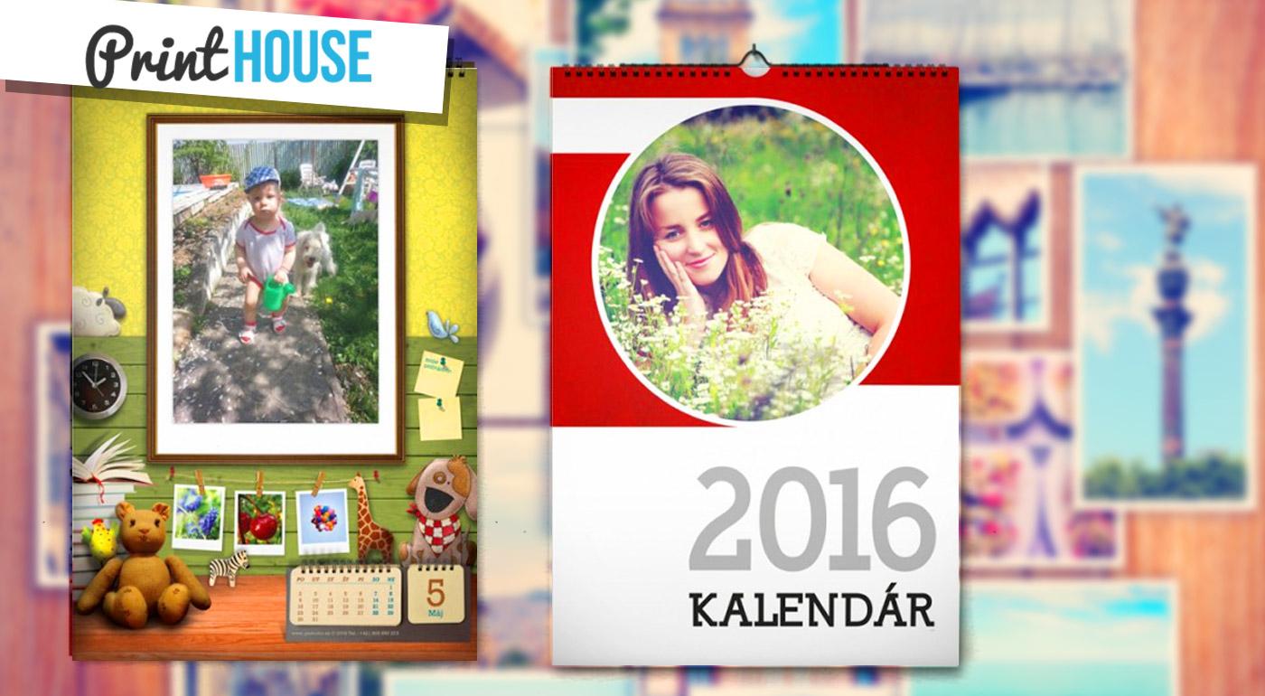 Nástenný kalendár s vašimi fotografiami - akcia 2+1 zadarmo