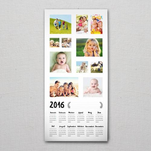 Jednolistový kalendár s rozmerom 32 x 69 cm