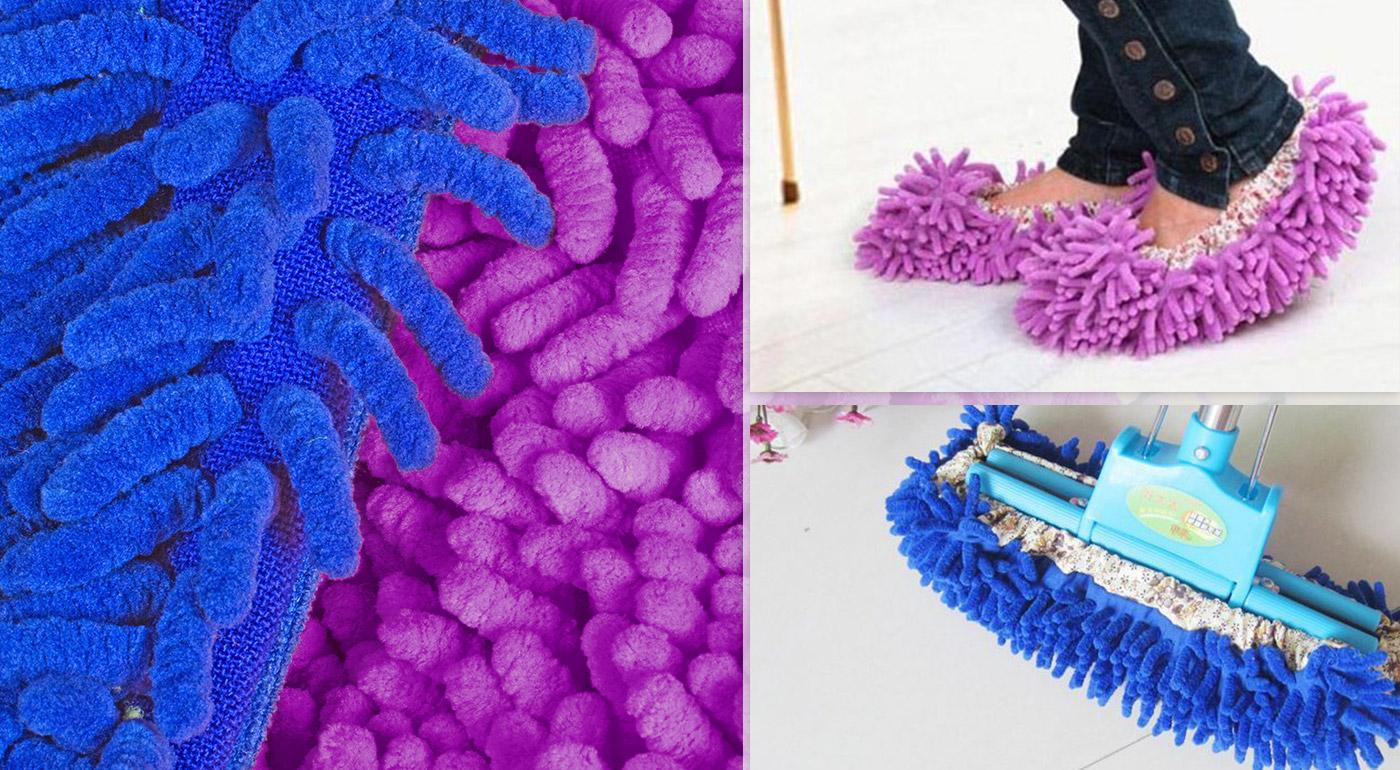 Čistiace mop papuče - farba fialová