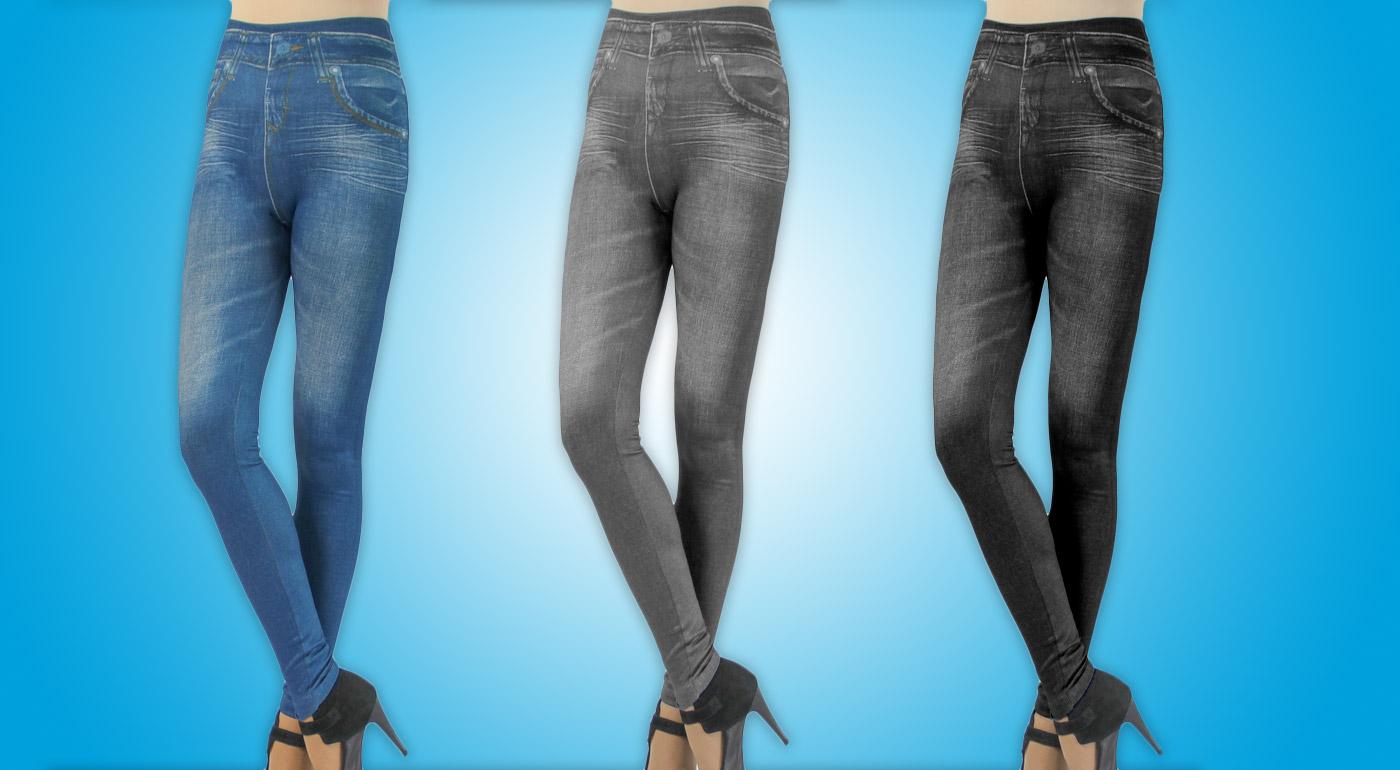 Trendy džínsové legíny - 3 kusy v balení