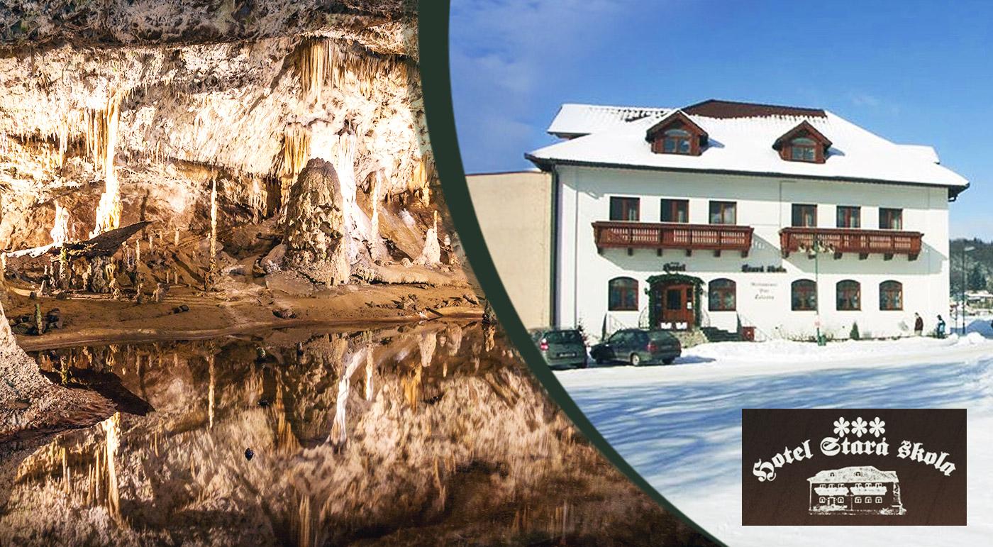 Zimný oddych v čarovnom Moravskom krase v Hoteli Stará škola***