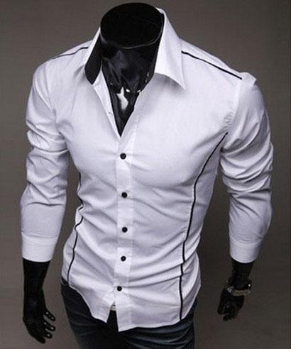 Štýlová pánska košeľa slim-fit s pásikom