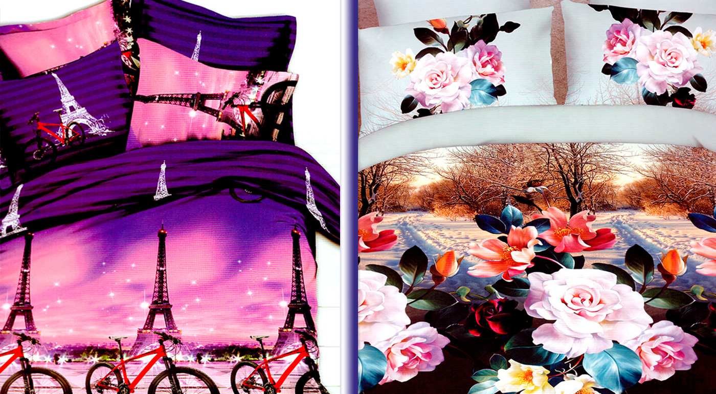 Moderné 3D posteľné obliečky na jednolôžko - na výber z 8 vzorov