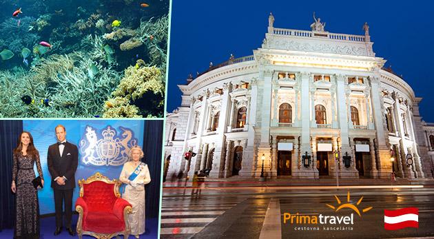 Podmorský svet, historické centrum Viedne a Múzeum voskových figurín vo Viedni