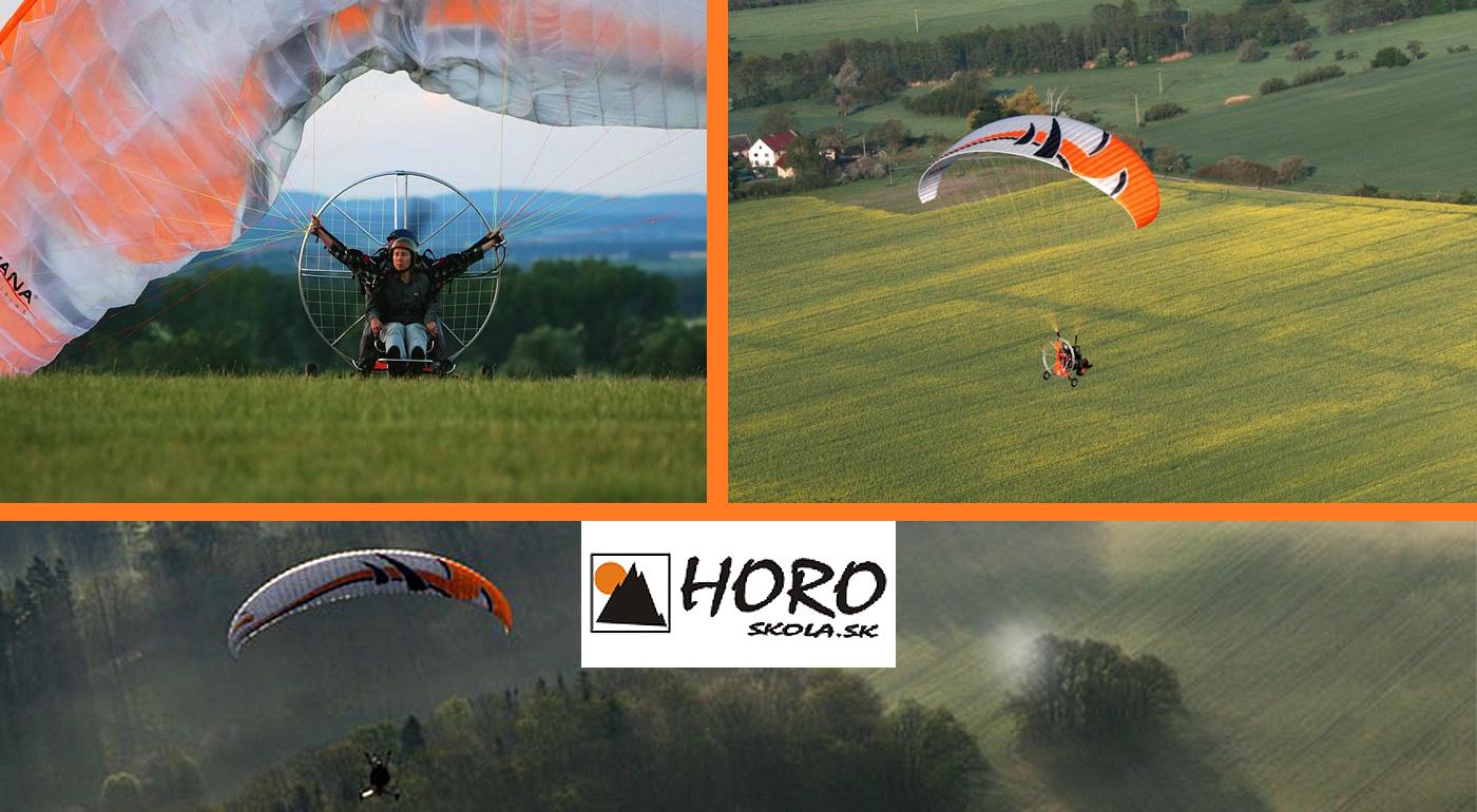 Motorový paragliding v tandeme okolo Liptovskej Mary na 15 alebo 45 minút