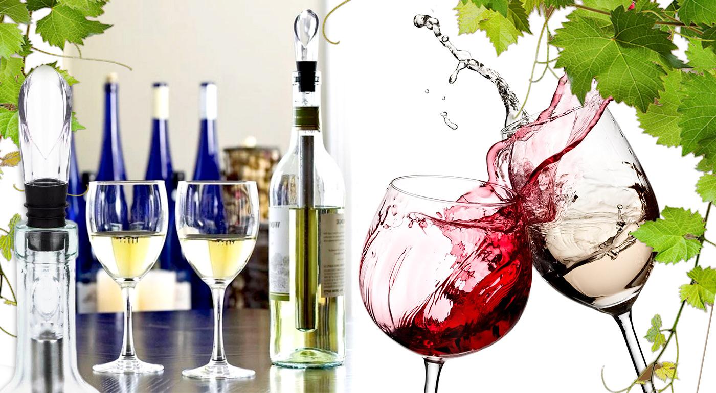 Chladič vína 3v1 s aerátorom a odlievačom