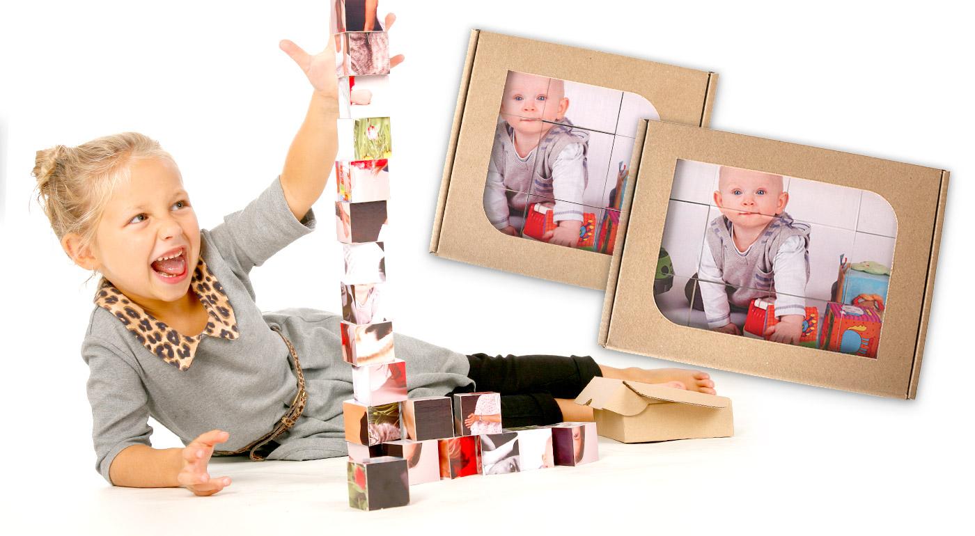 Detské kocky s vašimi vlastnými fotografiami