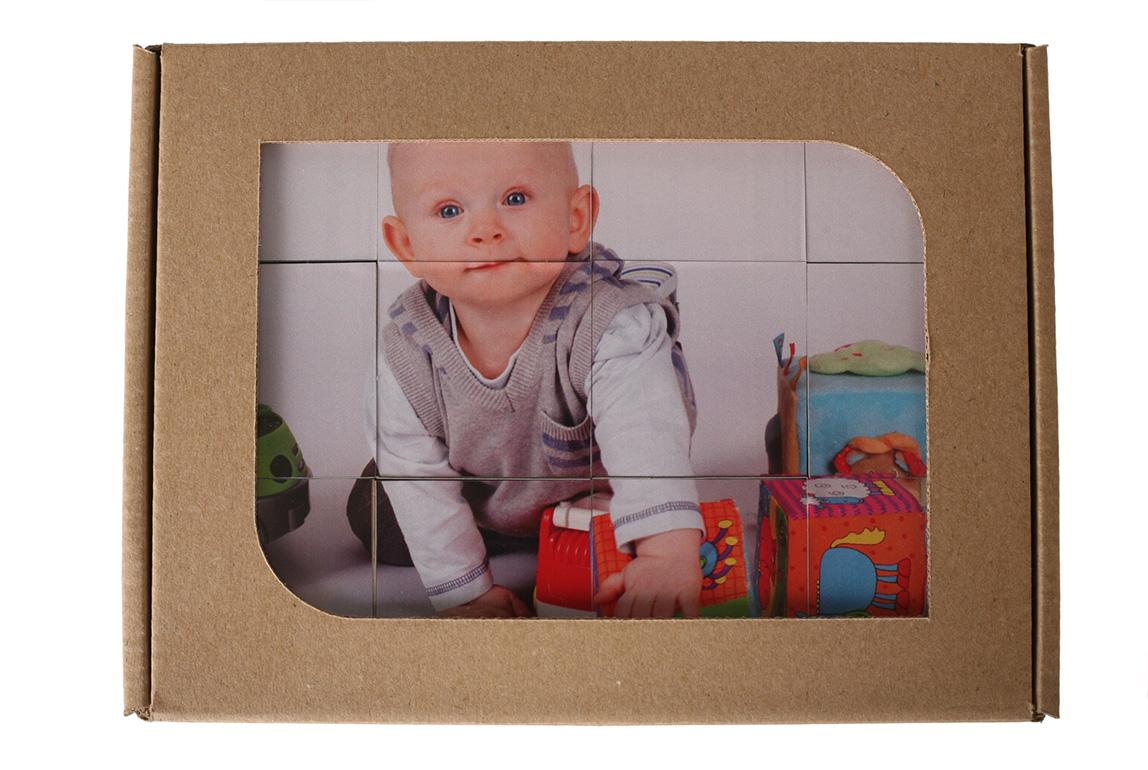 Detské kocky s fotopotlačou v darčekovej krabičke - 12 kociek v balení