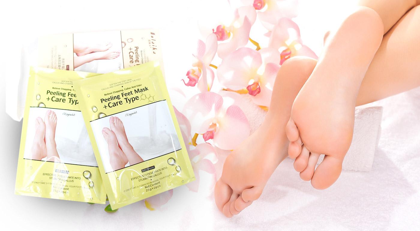 Exfoliačné ponožky pre bezchybné chodidlá