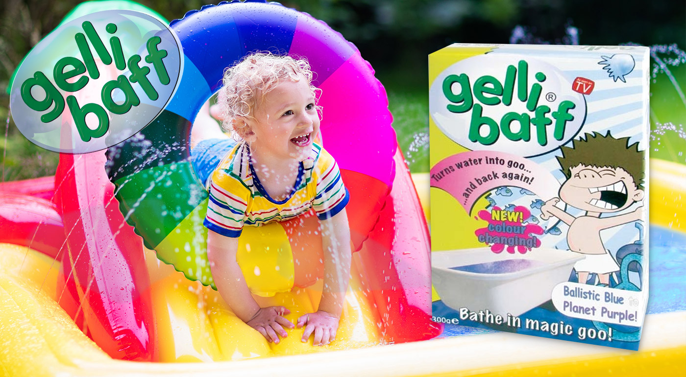 Gelli Baff - želatínové kúpele pre deti - farba: výbuch červenej lávy