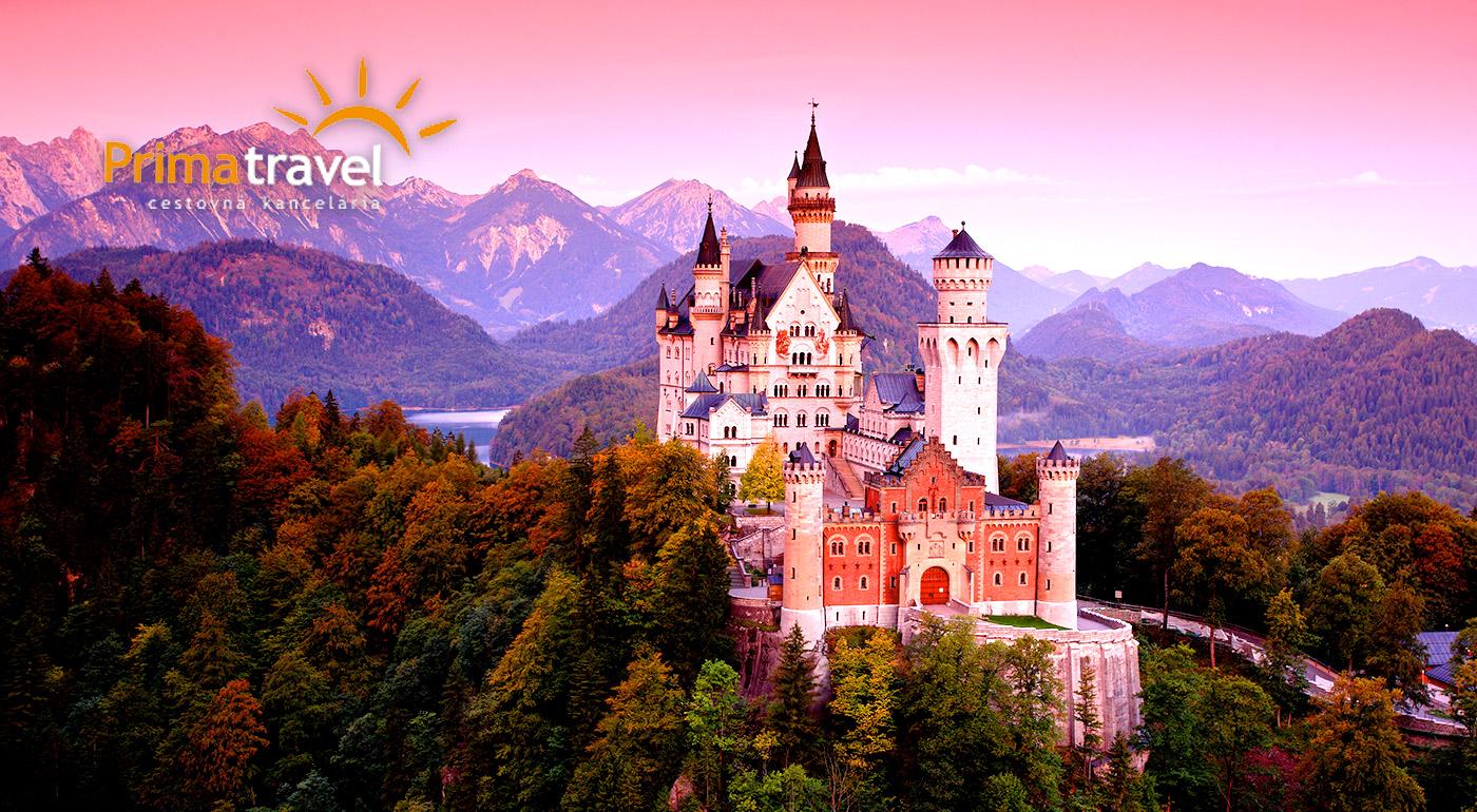 Cíťte sa ako v rozprávke počas 2-dňovej návštevy najkrajších zámkov Bavorska