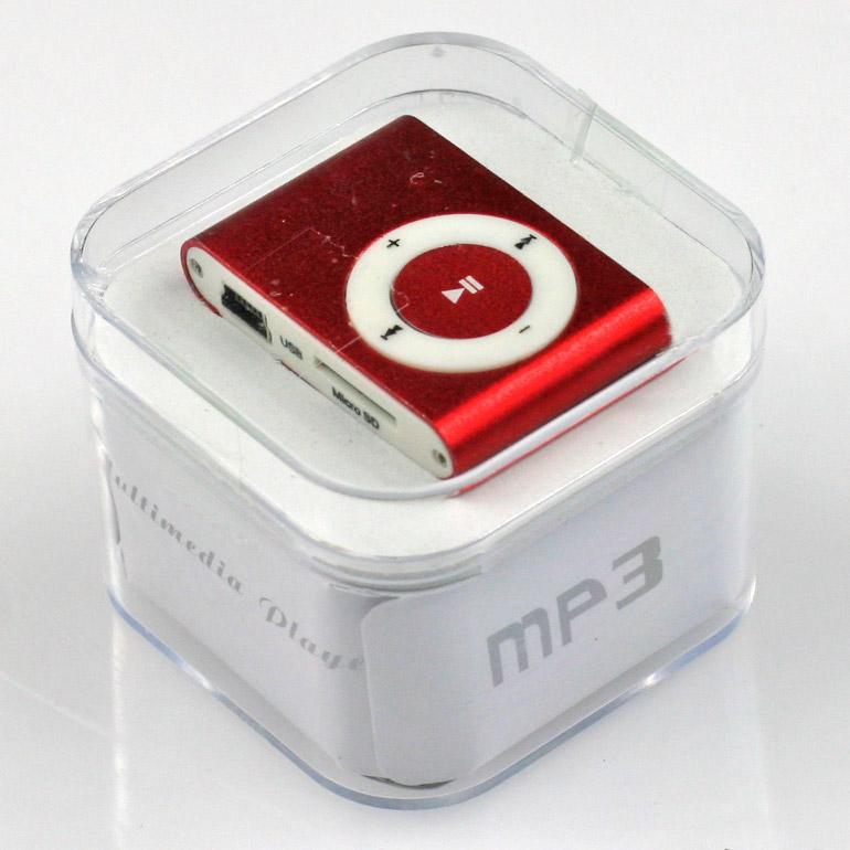 MP3 - mini prehrávač červený