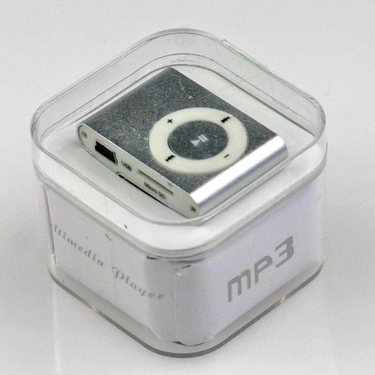 MP3 - mini prehrávač strieborný