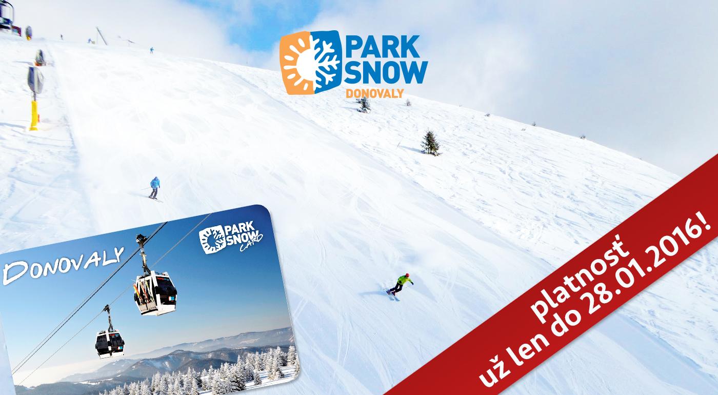 ŠPECIÁLNA AKCIA na 6-hodinový skipas do PARK SNOW Donovaly