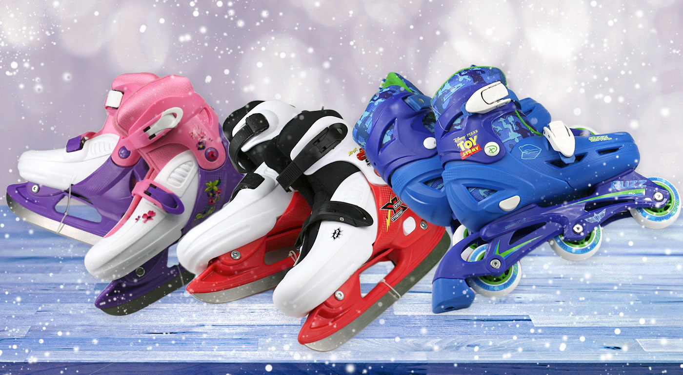 Ľadové alebo kolieskové korčule s motívom Disney pre deti