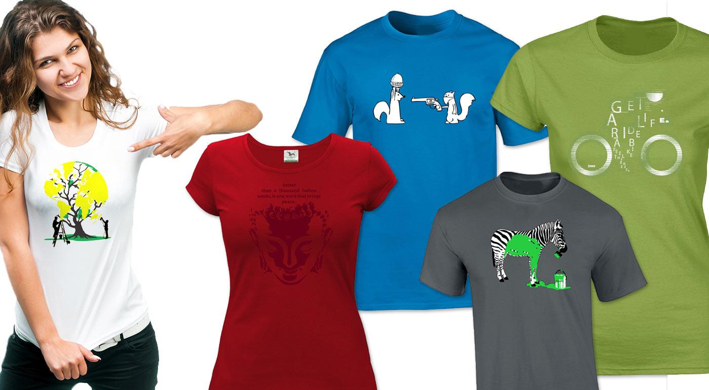 Originálne a dizajnové dámske a pánske tričká