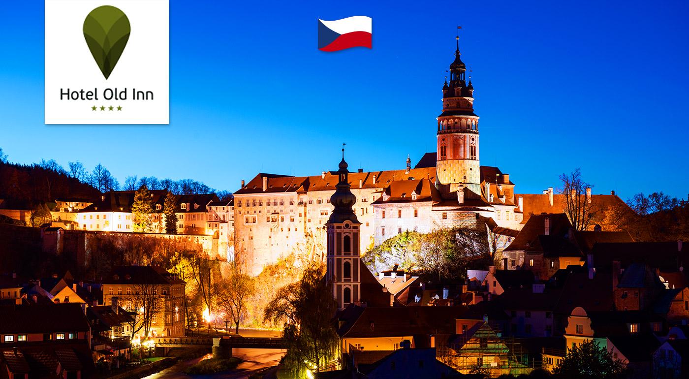 Prekrásne mesto Český Krumlov s raňajkami a wellness pre dvoch v Hoteli Old Inn****