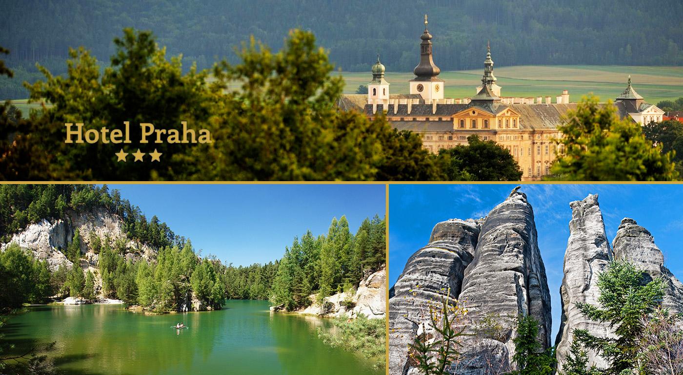 Pobyt v zaujímavej lokalite Adršpach v Hoteli Praha*** - chutná polpenzia, nádherné skalné mestá a výlety, čo stoja za to!