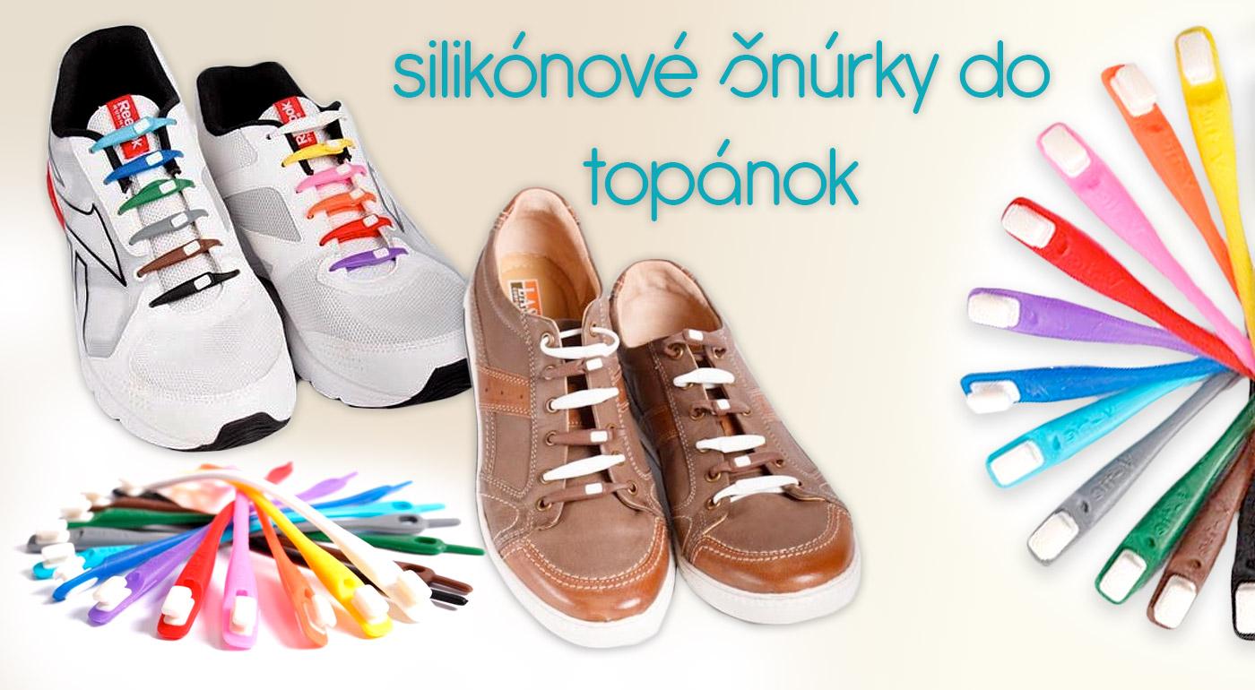 Silikónové šnúrky - dodajte vašim topánkam moderný look a skoncujte so zaväzovaním šnúrok!