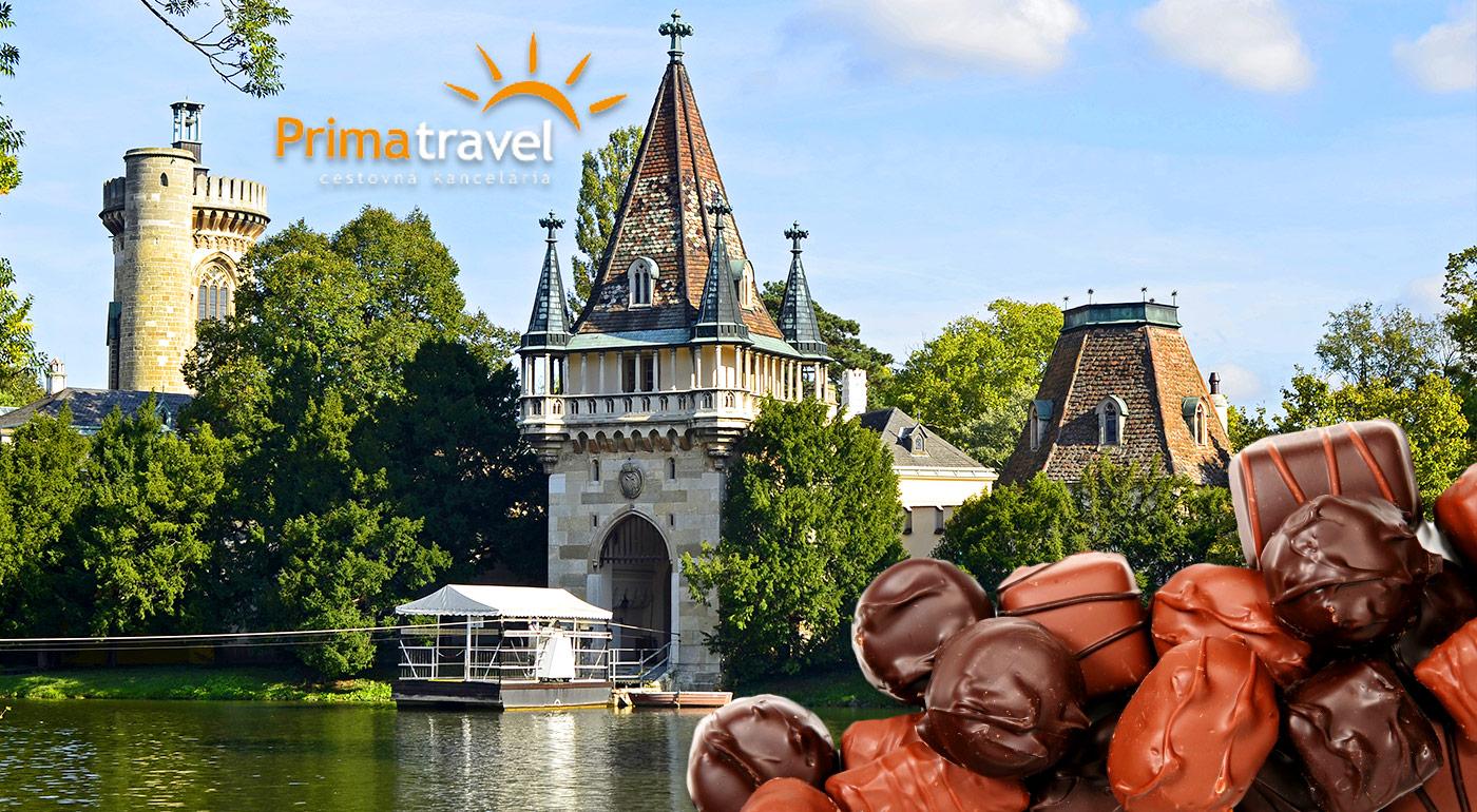 Ten najsladší výlet do slávnej rakúskej čokoládovne, zámku Franzensburg s plavbou po najväčšom podzemnom jazere v Európe!