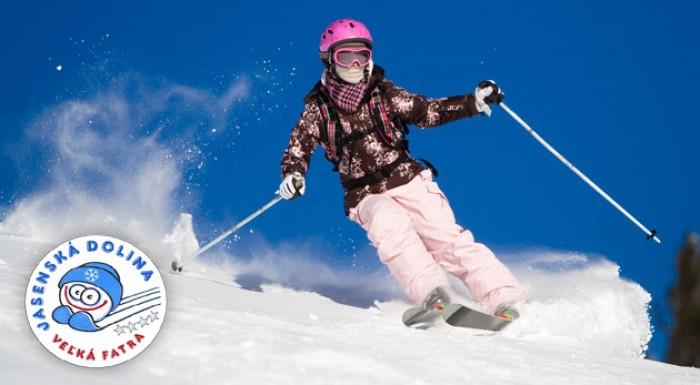 3 hodinový alebo celodenný skipass v Jasenskej doline v lyžiarskom stredisku Kašová. Lístky pre deti i dospelých.