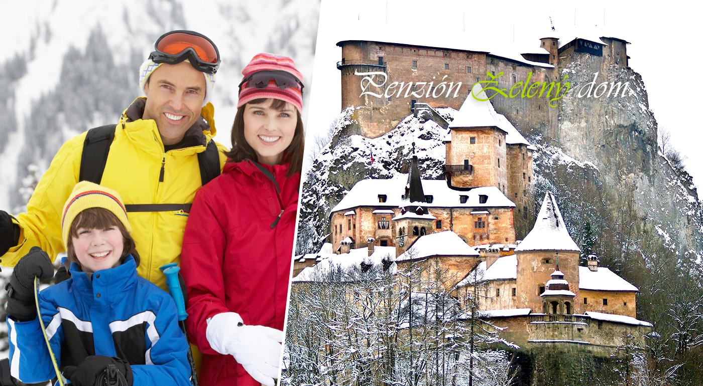Zimná dovolenka v Penzióne Zelený dom na Orave pre dvoch na 3 až 5 dní neďaleko lyžiarskeho strediska Ski Vitanová
