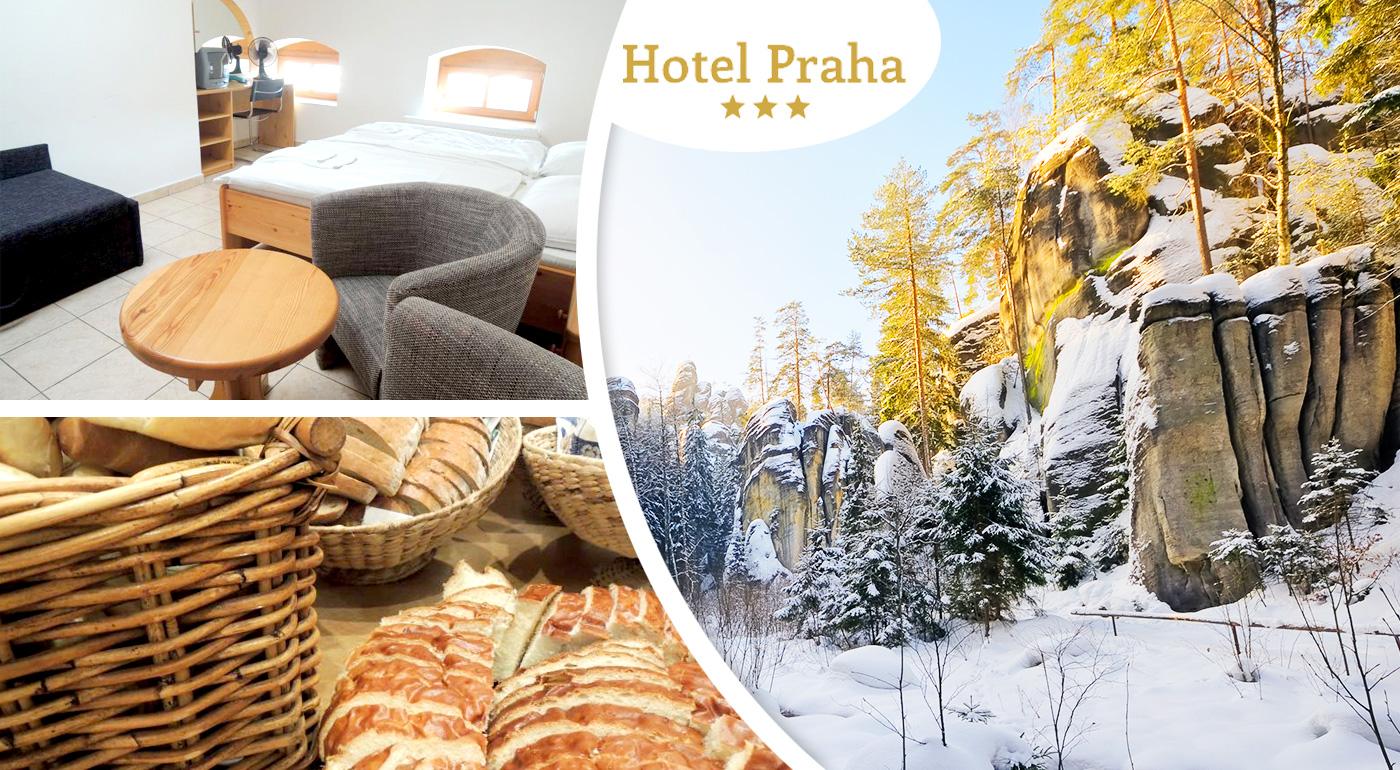 Pobyt pre dvoch v lokalite Adršpach v Hoteli Praha*** v Čechách. Chutná polpenzia, nádherné skalné mestá a výlety, čo stoja za to!