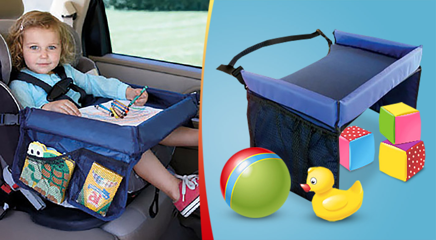 Mobilný detský stolík do auta či domácnosti - aby vám dlhá cesta ubehla rýchlejšie!