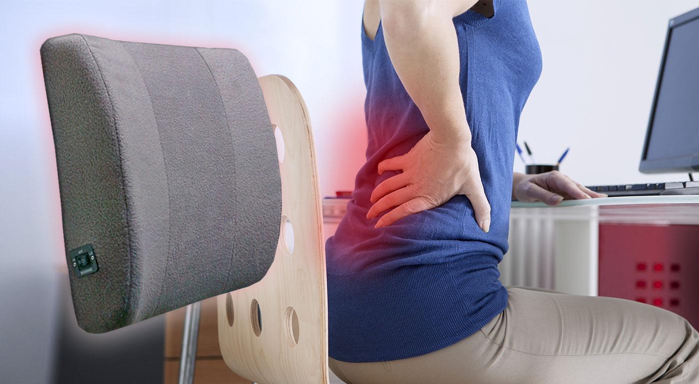 Domáci masér chrbta - bezdrôtová masážna chrbtová opierka s jemnými vibráciami