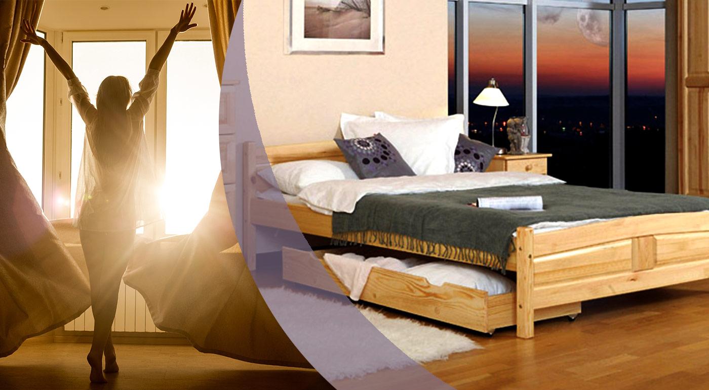Kvalitné borovicové postele Júlia vrátane matraca, v rôznych rozmeroch a farbách!