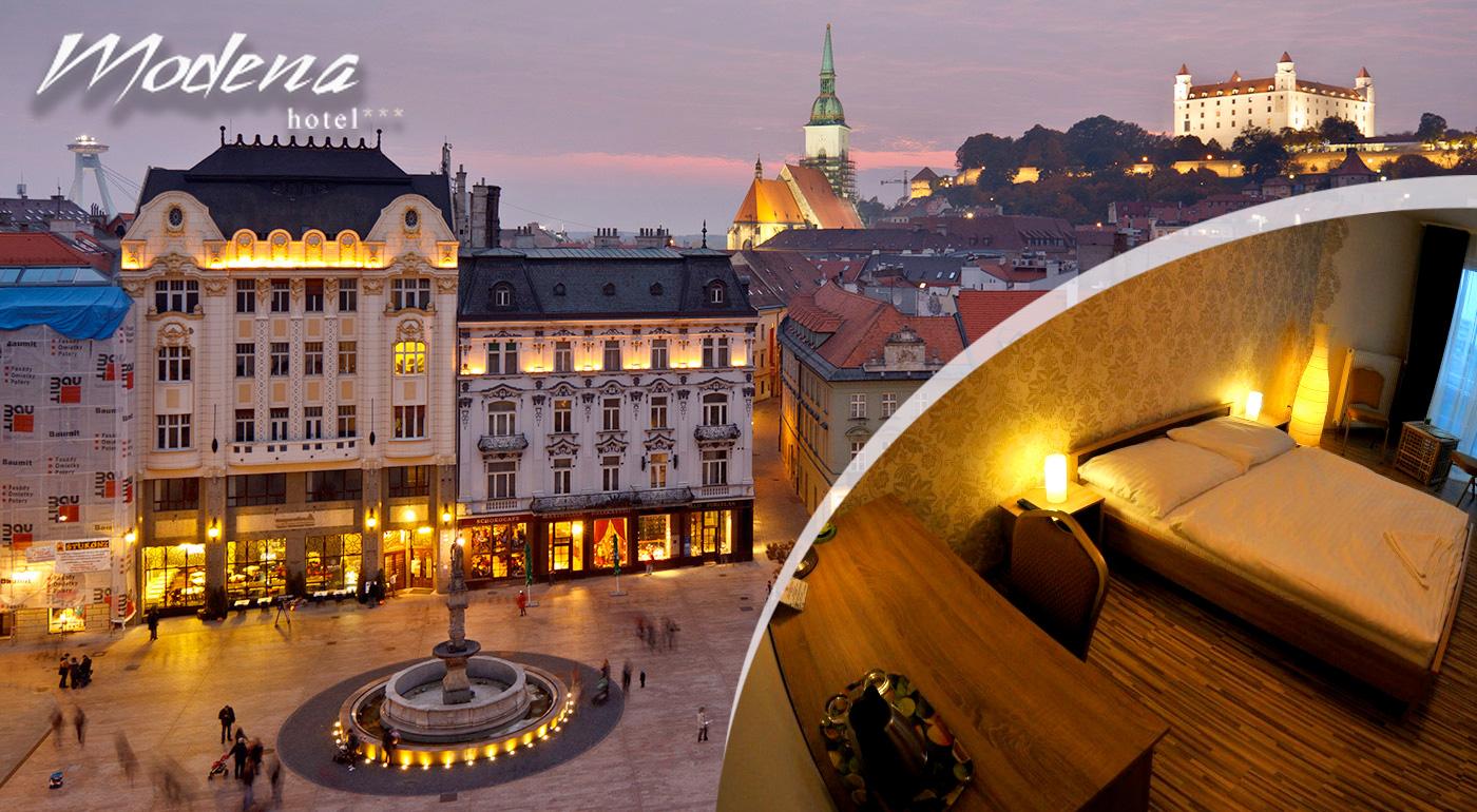 Prežite príjemný pobyt v Bratislave v komfortnom Hoteli Modena*** na 1 alebo 2 noci!