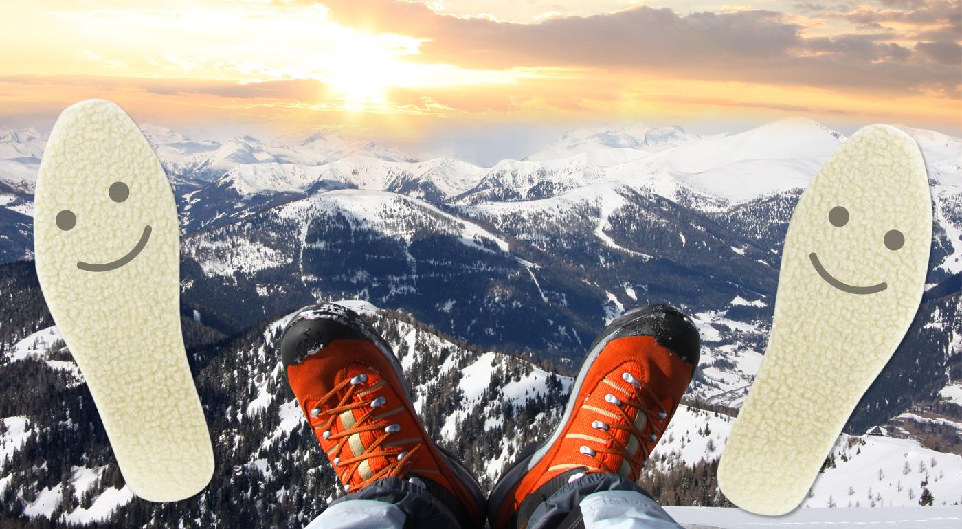Hrejivé antibakteriálne vložky do topánok s teplou vlnou - príroda vie najlepšie zahriať!