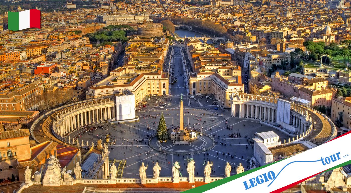 5-dňový poznávací zájazd do historického Ríma a Vatikánu