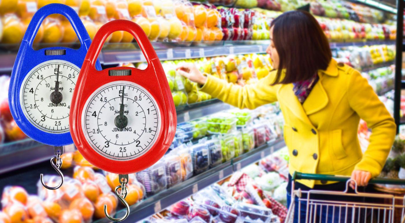 Praktická malá závesná váha na váženie hmotnosti až do 5 kg!