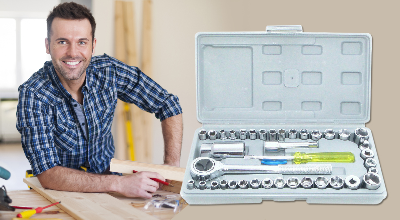Sada náradia značky Gola a Tidal v praktickom plastovom kufríku