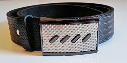 Pánsky kožený opasok s oceľovou prackou - model A