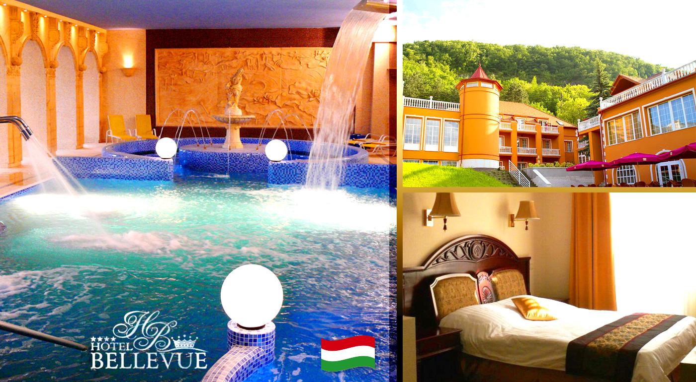 Kráľovský pobyt pre dvoch v najkrajšom riečnom údolí Maďarska v Hoteli Bellevue*** s neobmedzeným wellness