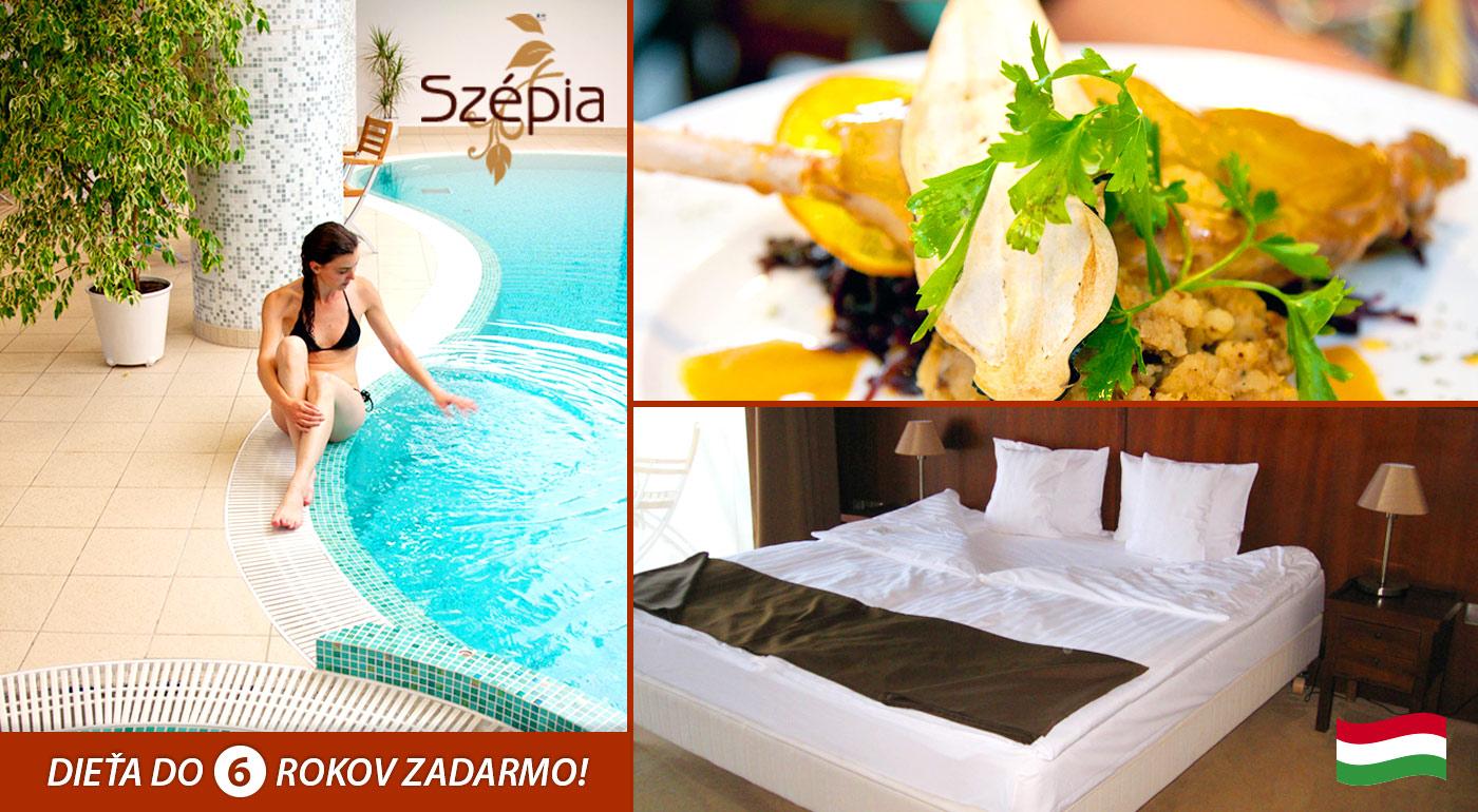 Wellness pobyt pre dvoch v maďarskom meste Zsámbék v Szépia Bio & Art Hotel****