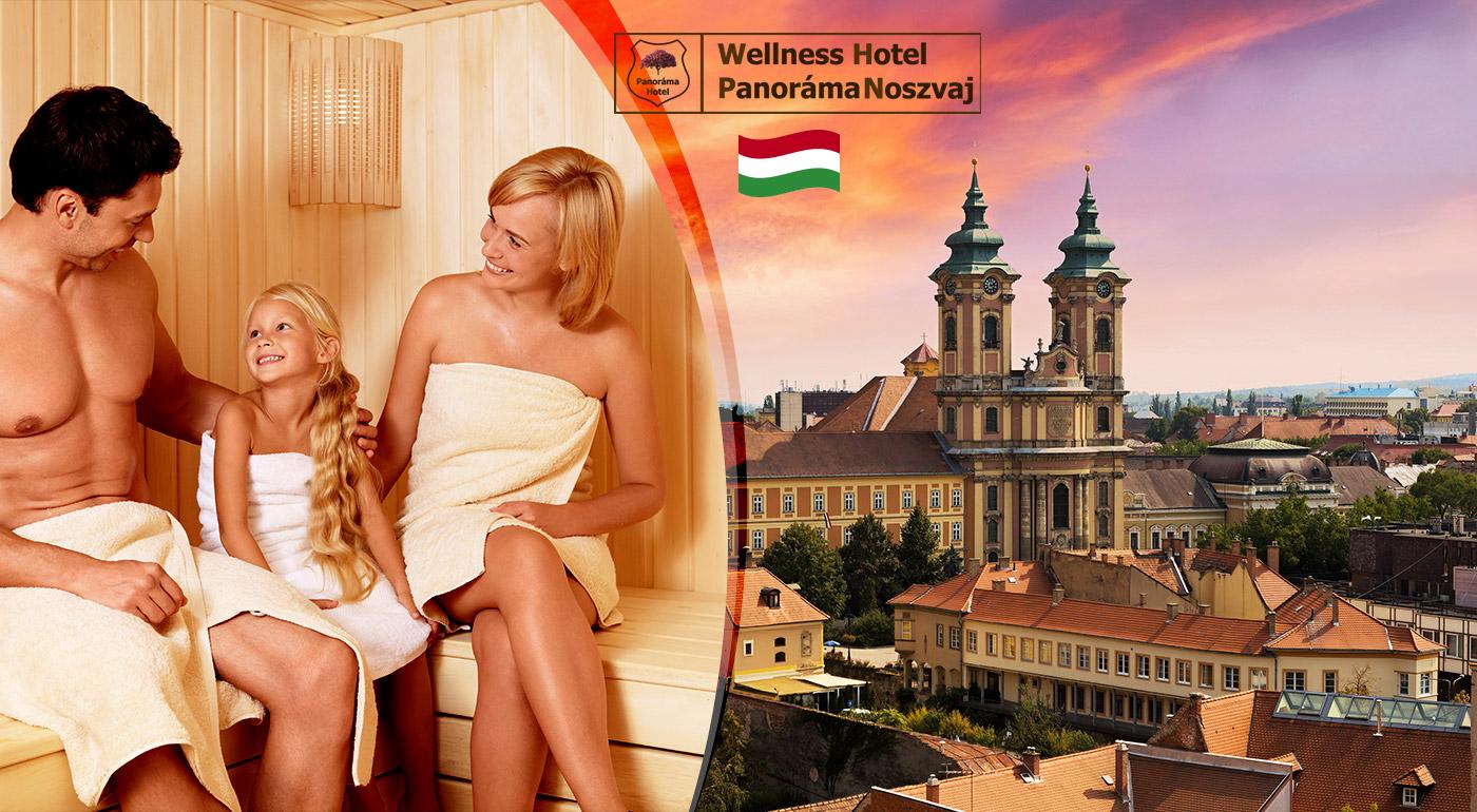 Wellness pobyt na úpätí maďarských hôr vo Wellness Hotel Panoráma pre dvoch + 1 dieťa