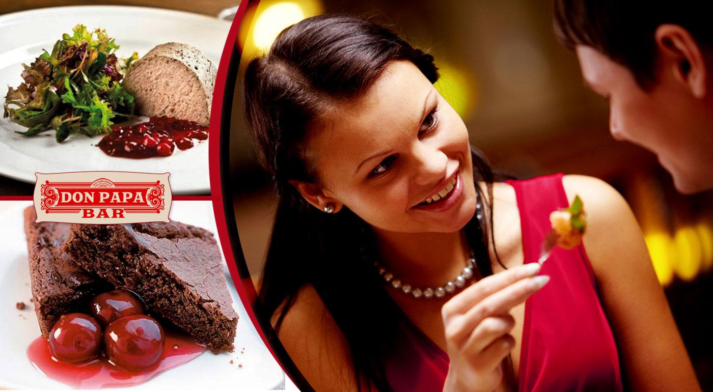 Slávnostné menu pre dvoch v Don Papa, gurmánsky zážitok na deň zamilovaných!