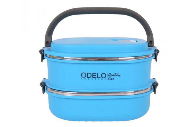 E2. Termoobedár nerezový 2-dielny ODELO model OD1292, objem: 1800 ml  - modrý