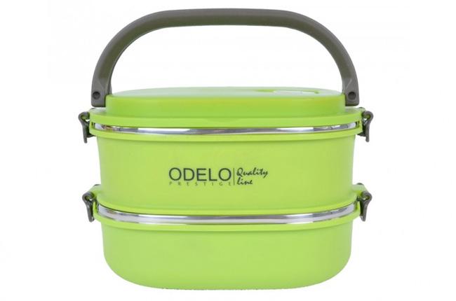 E1. Termoobedár nerezový 2-dielny ODELO model OD1291, objem: 1800 ml  - zelený